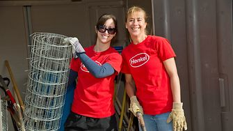 Henkel continues the tradition by reserving a day during the holidays for community service.