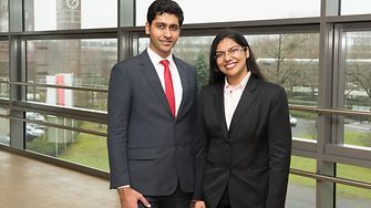 The team from India: Mayank Nandwani and Geetika Goel.