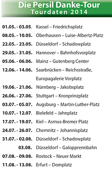 Persil Danke-Tour Plan