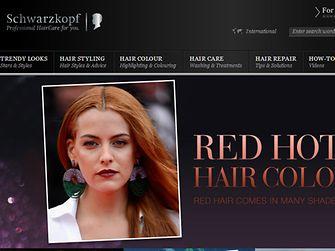 Schwarzkopf веб-сайт