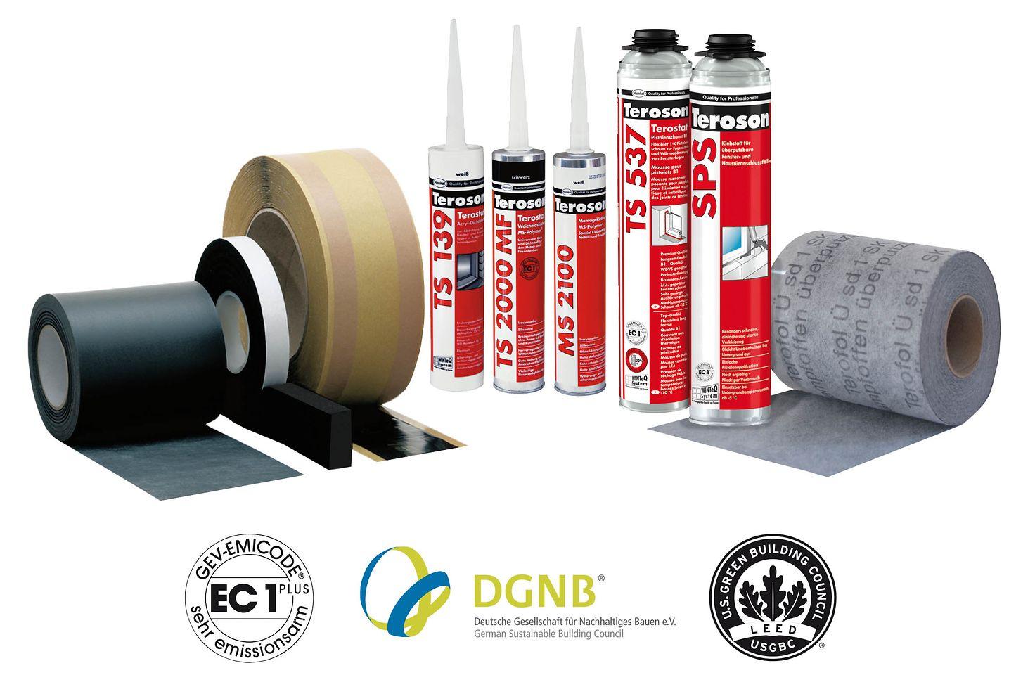 Nachhaltiges Produkt-Portfolio von Teroson – zertifiziert nach verschiedenen Bewertungssystemen