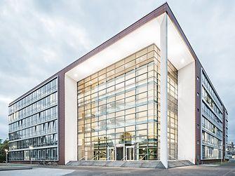Gebouw aan het Henkel hoofdkantoor in Düsseldorf.