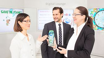 Three employees talking aboout Dial product