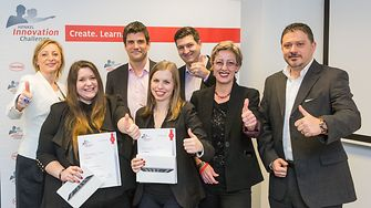 The winning team from Hungary with Henkel management