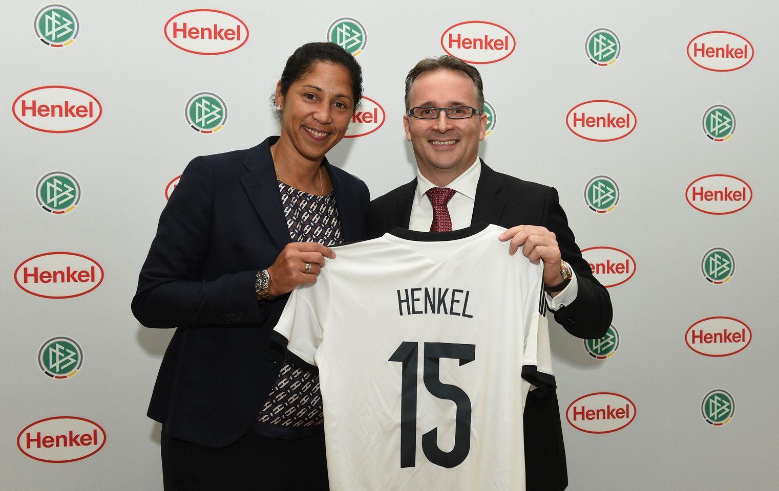 Henkel CFO Carsten Knobel and Steffi Jones