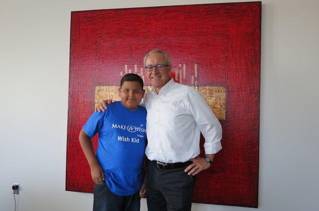 Jesus with Norbert Koll, President Henkel Consumer Goods North America