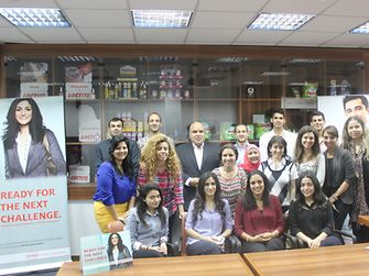 The students had a productive, fun day at Henkel Egypt (Cairo)