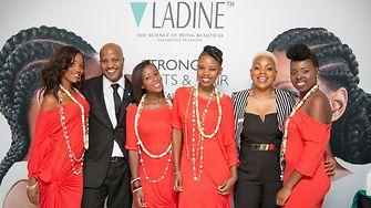 Mdu Shongwe and Lindiwe Radebe with models
