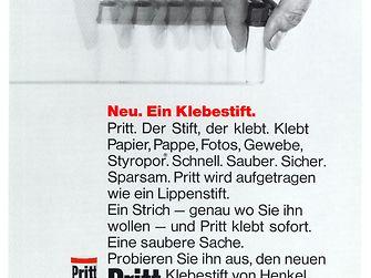 1969 Pritt stick advertisement