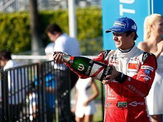 Following a third place finish in Argentina, team pilot Nelson Piquet Jr. won the most recent race in Long Beach, USA.