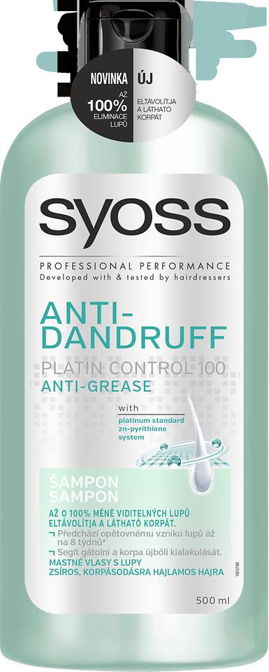Šampón Syoss Anti- Dandruff Platin Control 100 Anti Grease