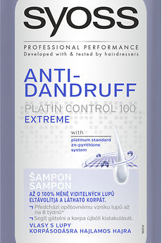 Šampón Syoss Anti- Dandruff Platin Control 100 Extrem