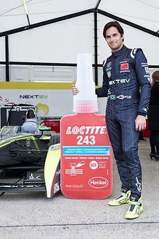 Der Rennfahrer Nelson Piquet jr.