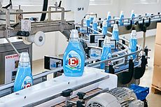 "The detergent brand ""E"" production in Vienna"