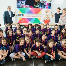In Milan, the school that collected the most clothing won tickets to visit the Expo Milan 2015.