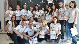 The twenty proud graduates of the Shaping Futures hairdresser training in Zagreb