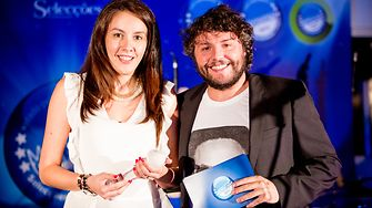 Cristina Afonso, from Henkel Iberica Portugal, receiving the award