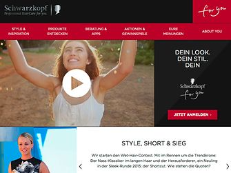 Online-Plattform schwarzkopfforyou.de