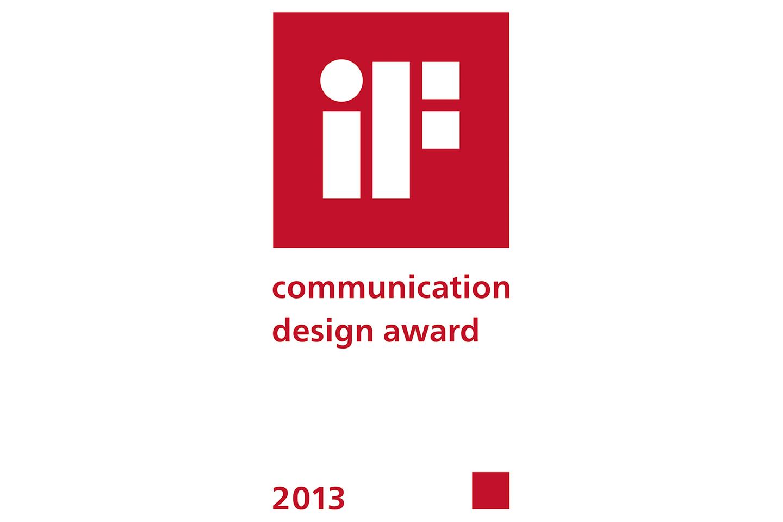 iF communication design award 2013
