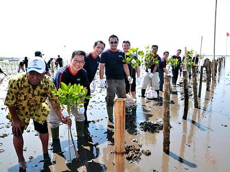Henkel Indonesia sustainability mangrove planting activity