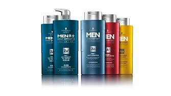 The Schwarzkopf MEN shampoo range