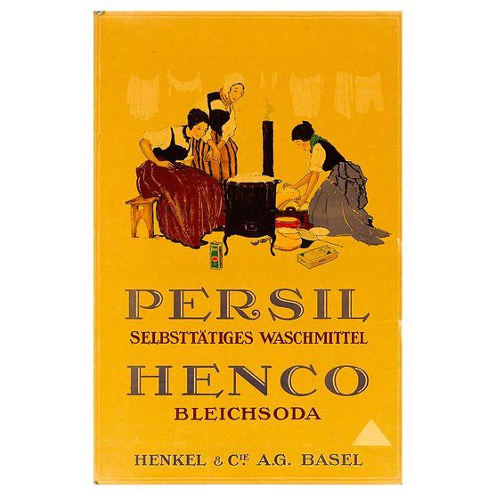 Werbeplakat für Henkel-Produkte in der Schweiz von 1920