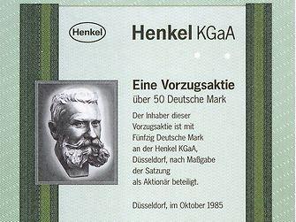 Primera acción de Henkel en 1985