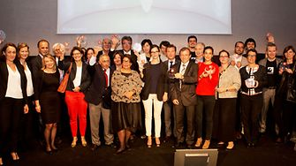 Lauréats des Trophées LSA de la diversité et de la RSE 2015 © LAETITIA DUARTE