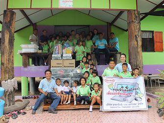 Henkel Thailand employees visited the Ban Kaeng Chet Khwae School