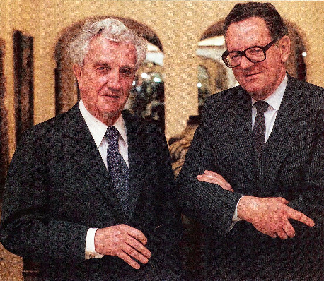 Dr. Konrad Henkel (links), Prof. Dr. Dr. Helmut Sihler (1983)