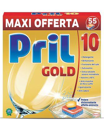 La confezione da 55 tabs di Pril Gold