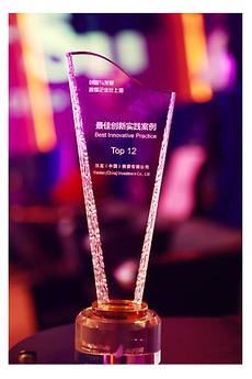 12强最佳创新案例奖杯