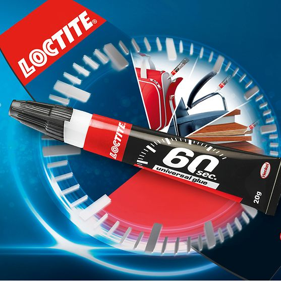 Loctite 60 Sec. Universal Glue is the first all-purpose glue from Loctite that facilitates all kinds of household repairs in only 60 seconds.
