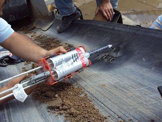 Aplicación Loctite Rapid Rubber Repair