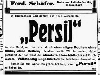 Anzeige für Persil 1907