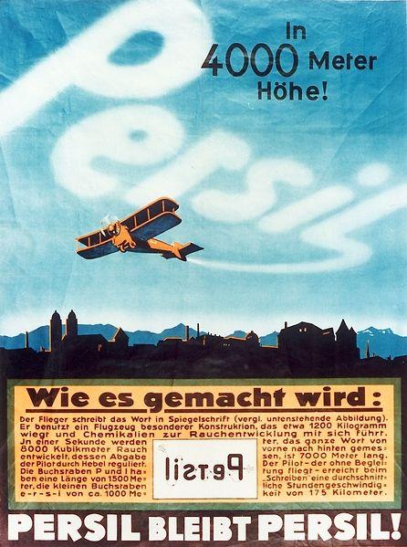Persil Himmelsschreiber
