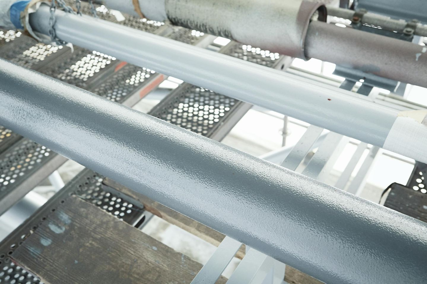 A steel pipe after coating with Loctite PC 7255 sprayable ceramic topcoat