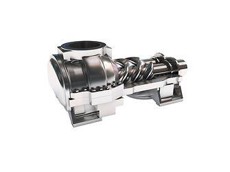 Pneumatic screw compressor
