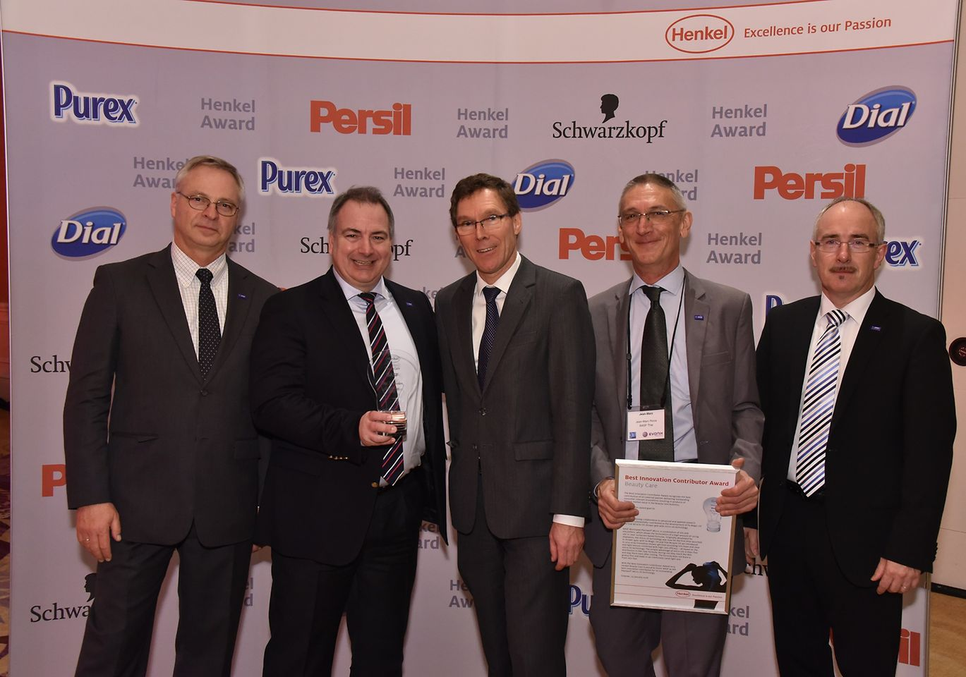 From left to right: Andres Jaffe, Hans Reiners, Thomas Förster, Jean-Marc Ricca, Jan-Peter Sander.