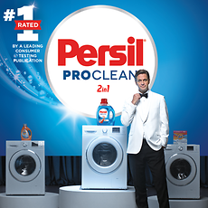 "Persil's Super Bowl® spot featured the stain-fighting Super Hero, ""The Professional."""