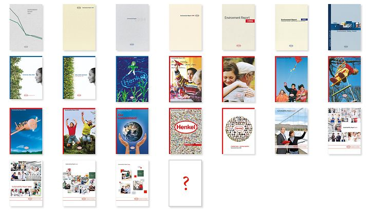 25 reports – 25 cover pages: This years Henkel publishes its 25th Sustainability Report
