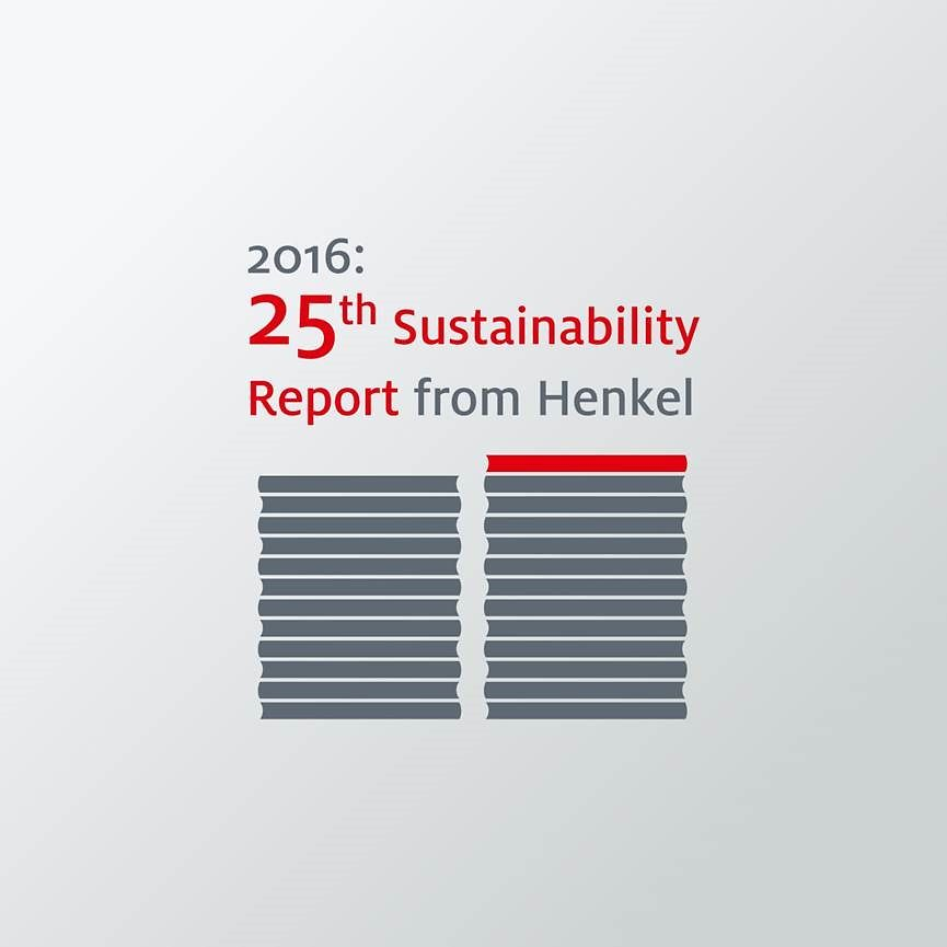 2016 Henkel publishes 25th Sustainability Report