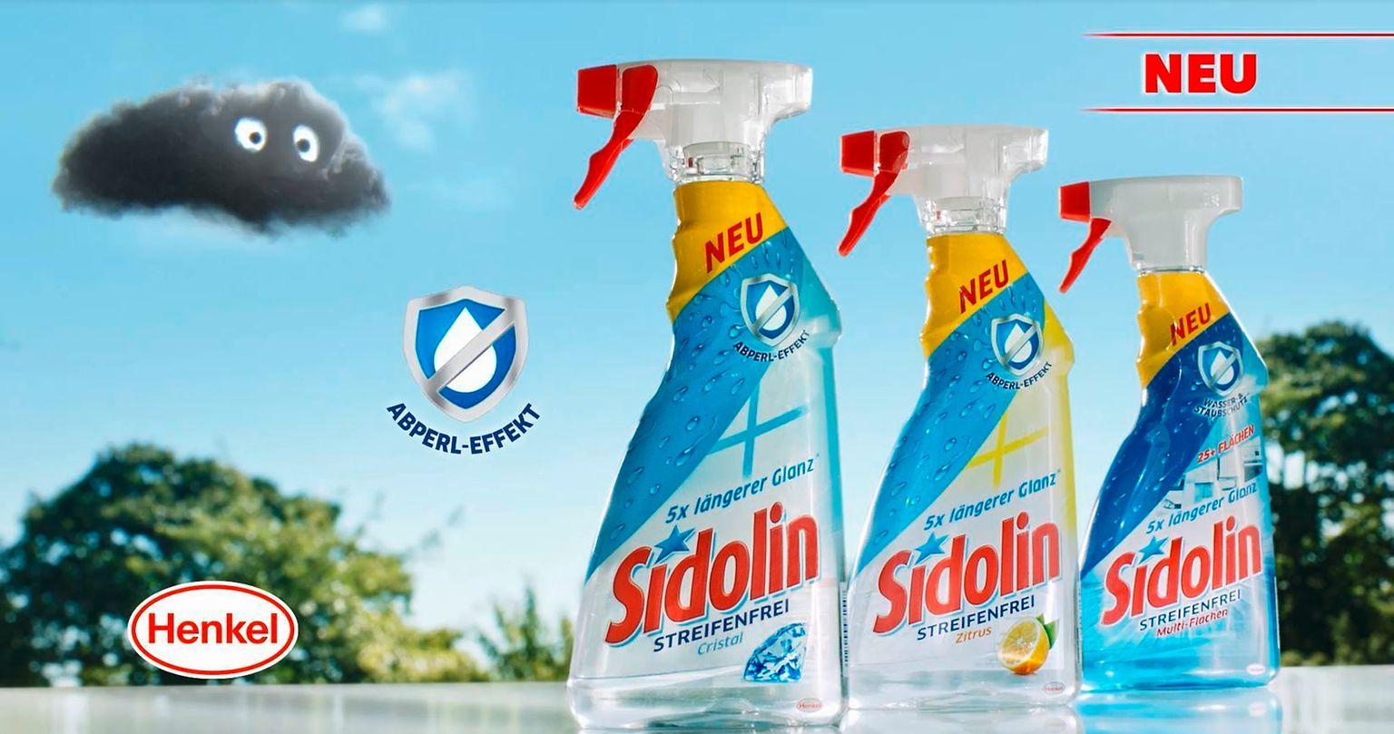 Neuer TV-Spot für Sidolin mit Abperl-Effekt