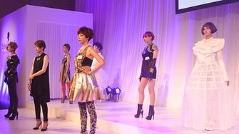 The models presenting the hairstyles