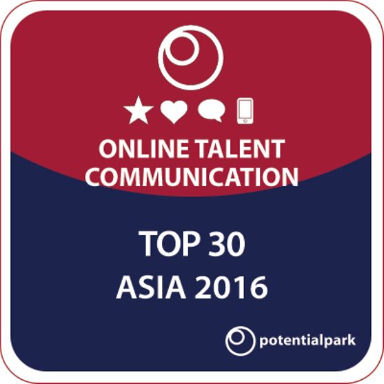 Potentialpark's Online Talent Communication Asia 2016: Henkel among the top 30 companies