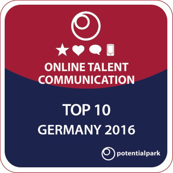 Henkel was awarded eighth place in Potentialpark's Online Talent Communication 2016 study for Germany