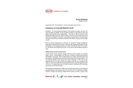 204 – Press release 100 Years of Konrad Henkel.pdfPreviewImage
