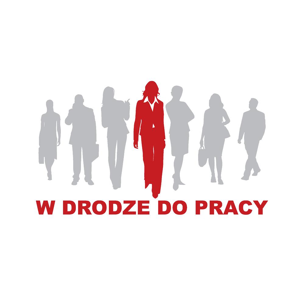 """Logo """"W drodze do pracy"""" (""""On the way to work"""")"""