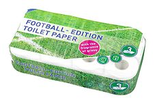 Football-edition toilet paper with the fragrance of grass