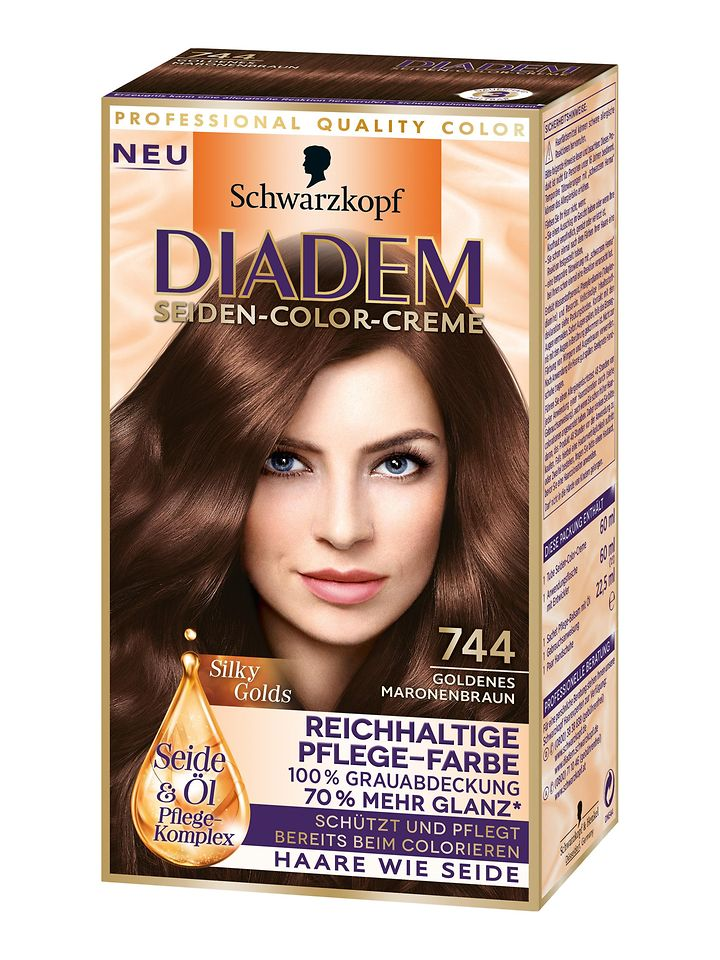 Diadem Silky Golds Goldenes Maronenbraun (744)